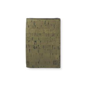 VEGAN BUSINESS CARD HOLDER  TEAL / 名刺入れ オリーブ&ナチュラル コルク製