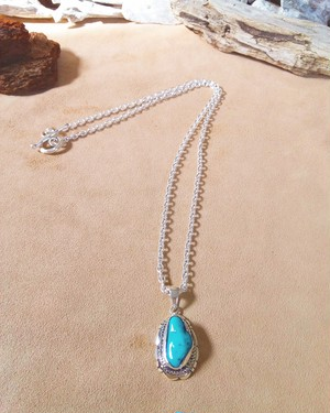 Native American Turquoise silver ネックレス ②