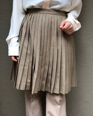 (PAL) pleats plaid skirt