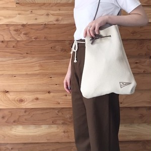 TSGD KINCHAKU BAG / WHITE
