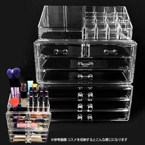 NILE 3ピース アクリル コスメ アクセサリー ディスプレイ ボックス NL-COMS29150