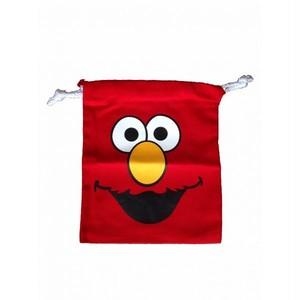 エルモ/Elmo セサミストリート 顔/フェイス プリント ポーチ・巾着袋