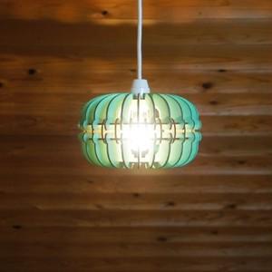 「マカロン(ミント)」木製ペンダントライト