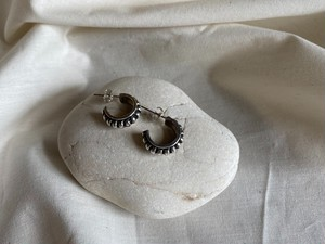 <vintage silver925>edge mini hoop pierce
