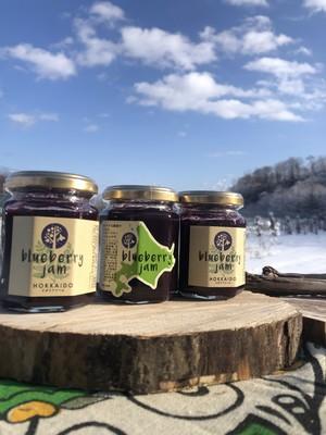 2本入 北海道自然栽培 Blue Berry と北海道の甜菜糖で作った    ブルーベリージャム      120g