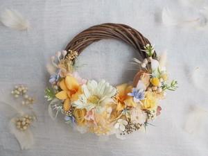 Lune Bonheur Yellow *春色イエローのボタニカルハーフリース*プリザーブドフラワー・お花・ギフト