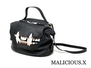 cat fang shoulder & handbag /black