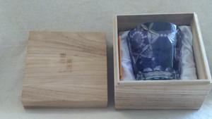 【グラス大】『未使用』 ノーブルカット オールドパープル 切子グラス ロックグラス / ルルアイランド ・(管理)210202-4-03