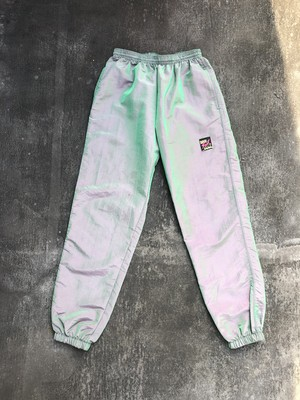 USED / 90's surf style nylon easy pants - made in USA -