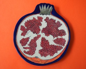 """Imustan 《ザクロ断面》 Plate/Wall Decoration  """"Pomegranate (section)"""" by Imustan"""