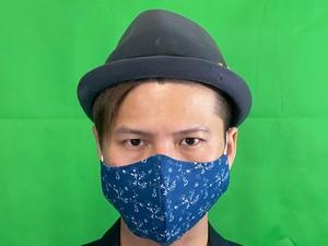 X+マスク NEWカラー紺 サイズL
