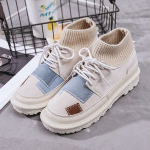【shoes】編み上げショートブーツ柔らかい歩きやすいブーツ
