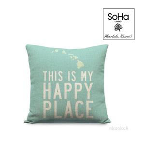 SoHa LIVING[ソーハリビング]ピローカバー マイハッピープレイス / アクア/ クッション/ ハワイアン/ 雑貨