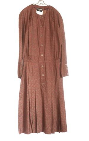CHANEL Paisley Pattern Silk Dress 1(tie無し)