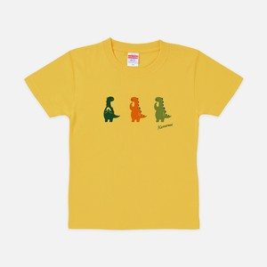 Tシャツ[おちょきん:キッズ]けなるい スモーキー バナナ色
