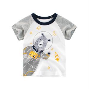 【トップス】可愛い 気質よい プリント コットン ラウンドネック 半袖 子供服 男の子 Tシャツ・カットソー24835678