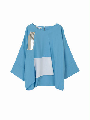 Square pull over shirt  / blue / S16SH01