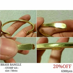 STOMP BRASS BANGLE 2018
