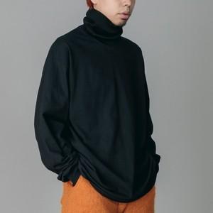 NON TOKYO : HI-NECK LONG T/S(BLACK×BLACK)