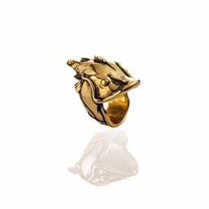 """EL SENOR YELAWOLF """"CATFISH BILLY""""RING - GOLD PLATED"""