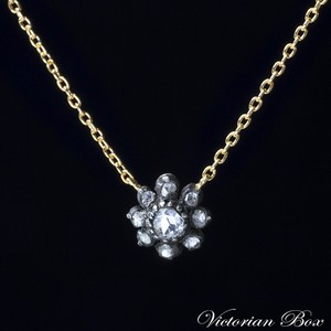 Rose-cut Diamond Flower Necklace