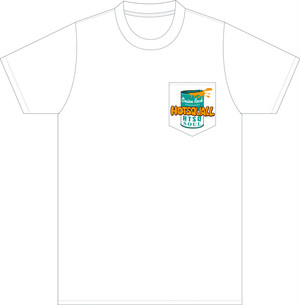 SOULポケットTシャツ Body:[White] Print:[Green/Orange/Black]