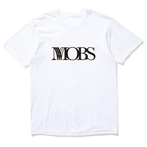 MOBS logo tee white