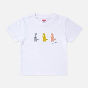 Tシャツ[おちょきん:キッズ]けなるい スモーキー ホワイト色