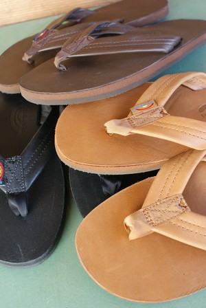 "Rainbow Sandals""Classic Leather-Single Layer Arch Support"""