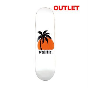 【アウトレット】POLITIC PALM TREE DECK 8.0INCH デッキテープ付き(EBONY GRIP)