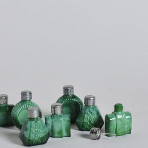 Malachite Perfume Bottle/ マラカイト 香水瓶〈 チェコガラス / オブジェ / ディスプレイ〉