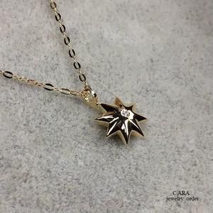 K18ダイヤモンドペンダントセット・固定バチカン(専用チェーン40センチ)