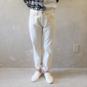 4/5LENGTH WHITE DENIM PT