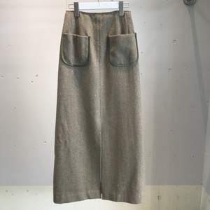 FILL THE BILL FRONT SLIT TWEED SKIRT
