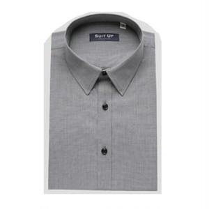 送料無料メンズ/ビジネス/グレー/夏素材/半袖ワイシャツ