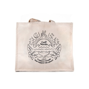 CaliWoods Grocery Tote Bag  【HAPPY VIBES】