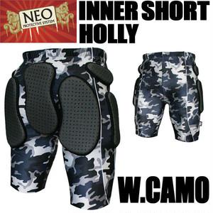 NEO インナーショートパンツ ホーリー Wカモ プロテクター スノーボード・スキー・スケボーに
