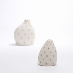 アトリエマブチ 花器 あめのひ 小【磁器・陶器】 20210513-02