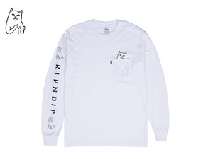 RIPNDIP|LORD NERMAL POCKET L/S (WHITE)