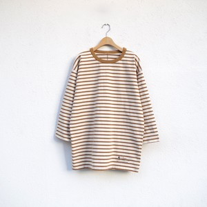 one f × 4ROOM HB Border Tee NATURAL / BROWN 再入荷