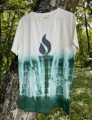 <ok-9>  OUTFLOW x KAYA  限定手染 Hemp T-shirt / Kinari x Olive, M