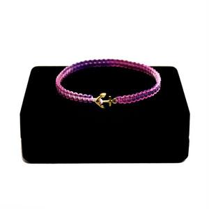 【2020SS 期間限定カラー】K18 Gold Anchor Bracelet / Anklet  PinkPurple【品番 17S2010】