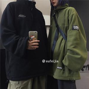 ユニセックスハーフジップジャケット