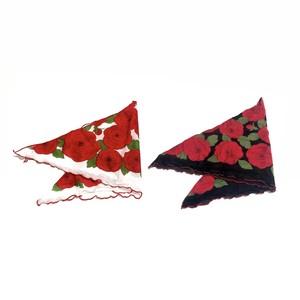 三角ローズスカーフ〈全2色〉