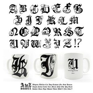 A to Z Skull マグカップ【A~M】受注生産