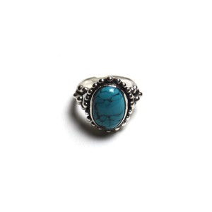 deaf breed/デフブリード Small turquoise ring