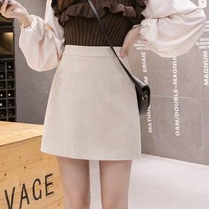 【ボトムス】大人っぽくファッションカジュアル通勤/OLコーデュロイ膝上Aライン秋冬スカート23360146