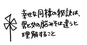 11/22「幸せな同棲の秘訣は、男と女の脳みそは違うと理解すること」