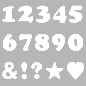 数字・記号(白・SSサイズ、H30mm)