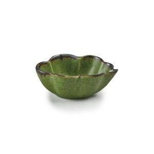 「翠 Sui」しょうゆ皿 雲豆鉢 長幅6.5cm うぐいす 美濃焼 288211